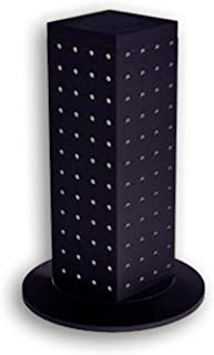 Azar 700220-BLK 4-Sided Revolving Pegboard Counter Display, Black
