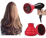 Plegable secador de pelo de difusor, plegable de impacto de secado de difusor de Frisiersalon profesional de adicional de curling Wave de herramientas de secado