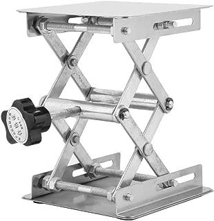 Acero inoxidable SS304 Soporte para mesa de laboratorio Elevador de mesa 280 mm Plataforma de elevaci/ón de laboratorio Estante de tijera 200 200