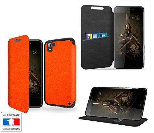 Case-Industry - Funda de lujo para Hisense C30 Rock Orange Collection Exception, con función atril, funda protectora Hisense C30 Rock