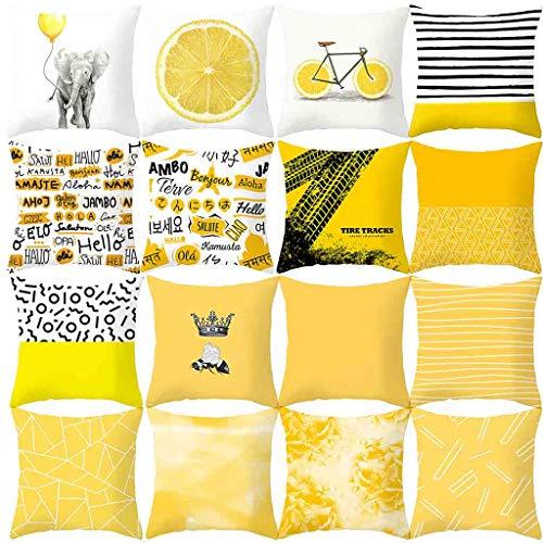 Cojines estampados amarillos / 1pc.