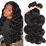 8-40Inch Brazilian Human Hair Bundles Body Wave 3 Bundles 10A Grade 100% Unprocessed Virgin Long Body Wave Human Hair Remy Weave Extensions Natural Color (20 20 20, natural color-body wave)