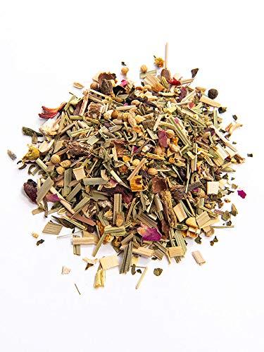 FRUTEG TEE Basischer Kräutertee Bio 1000 g I loser Tee mit 49 erlesenen Bio-Kräutern I Basischer Wohlfühl-Tee mit Löwenzahn Alantwurzel Salbei Brennessel Zimt Apfel uvm. I Bio-Basen-Tee lose 1 kg
