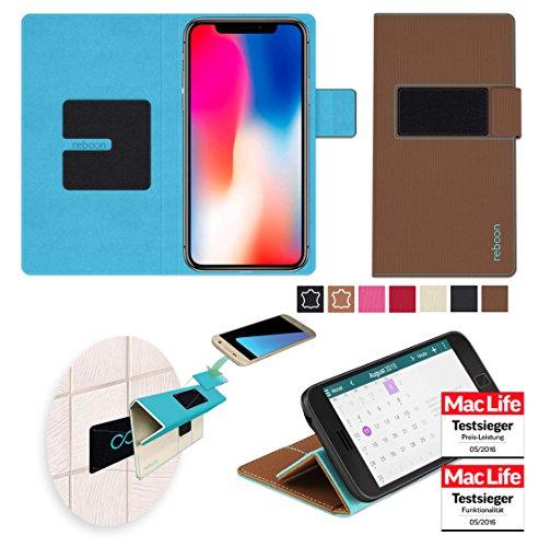 reboon booncover Smartphone Hülle   u.a. für iPhone 6, Samsung Galaxy S6   braun Gr. XS   Handy Tasche, Standfunktion, Kfz Handy Halterung und mehr