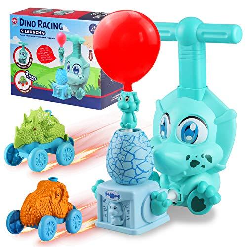 Yojoloin Dinosaurier Luftballon Cars Spielzeug,Dino Spielzeugauto ab 4-9 Jahren,Cars Auto Powerballon Spielzeug,Kinderspielzeug ab 3-10 Jahren,Dinosaurier Eierwerfer,Geschenk Jungen Madchen