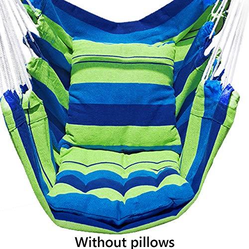 SDCVRE Hängematte,Nordic Style Hängematte Outdoor Indoor Garden Schlafsaal Schlafzimmer Hängesessel für Kinder Erwachsene Schaukel Single Safety Chair, grün KEIN Kissen
