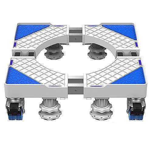 QINGMM Socle Lave Linge, Base réglable Mobile multifonctionnelle, Support d'appareils ménagers avec Support télescopique pour Machine à Laver, sèche-Linge et réfrigérateur,D