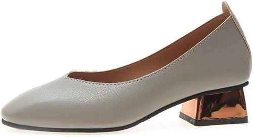 Mocassins Bouche Plate Chaussures pour pour Femmes Plates avec Une Tête Carrée avec Une Seule Chaussure Rétro Mode Confortable  vente en ligne économiser 70%