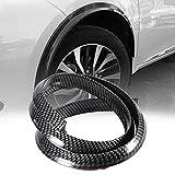 Rueda de cejas Protector - PASOS DE RUEDA, fibra de carbono de la rueda de coche de la ceja Anti-cero anticolisión Pad Negro 150 CM