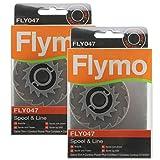 Original FLYMO Contour Power Plus Akku-Strimmerspule & Schnur (2 Stück, FLY047)
