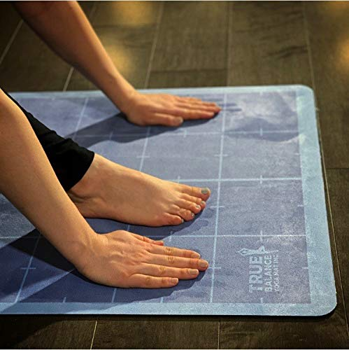 TRUE BALANCE YOGA MAT Non-Slip; Soft; Environmentally-Friendly; Fitness mats for Yoga, Meditation, Pilates, Floor Exercises
