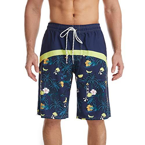 Katenyl Pantalones Cortos de Playa de Secado rápido para Hombre, Pantalones Cortos con Estampado de Personalidad y Personalidad Relajada, Moda Relajada 3XL