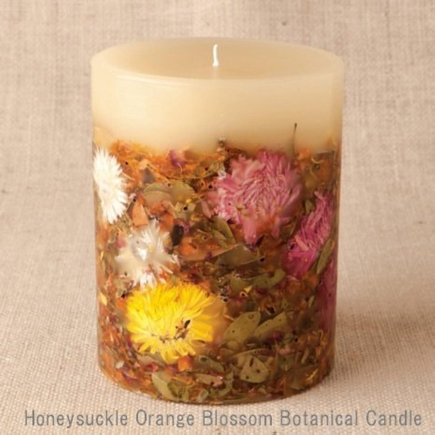 フラフープりんご買い手【Rosy Rings ロージーリングス】 Botanical candle キャンドル ハニーサックルオレンジ&ブロッサム