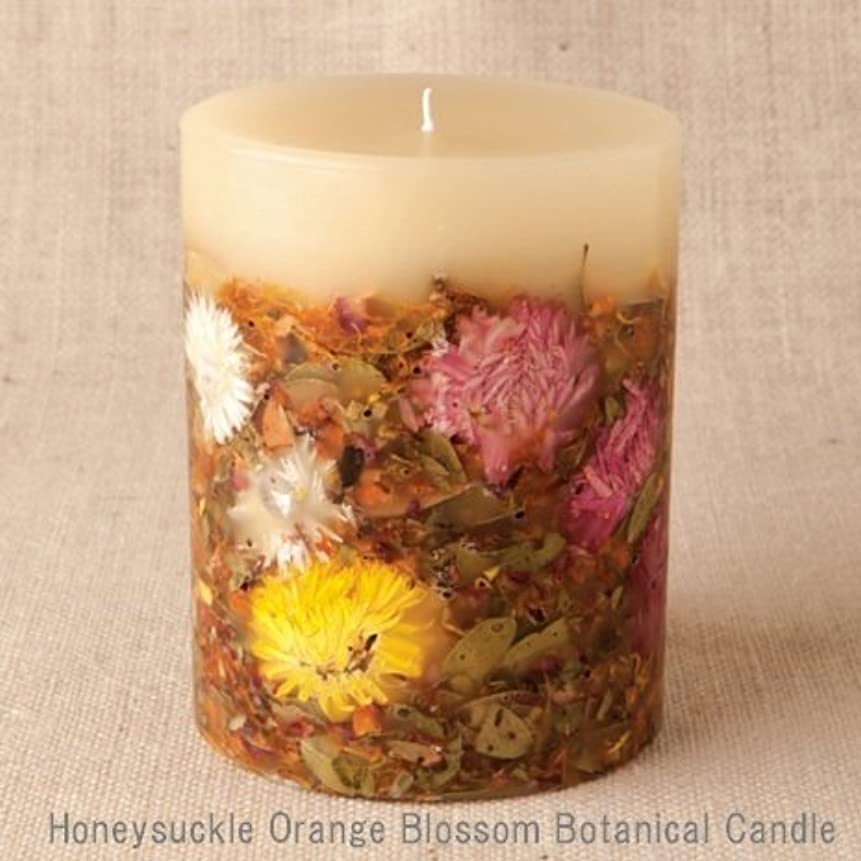 プロジェクター採用する女性【Rosy Rings ロージーリングス】 Botanical candle キャンドル ハニーサックルオレンジ&ブロッサム