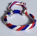 Bracelet Mary's Terrace Rugby Ropes Fait main Cadeau idéal sur le thème du rugby pour les supporters Cadeau ou accessoire idéal pour tous les fans de rugby, france, taille unique