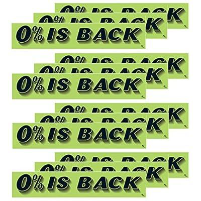 VERSA-TAGS 14.5 Inch Black & Chartreuse Green Adhesive Windshield Slogan Car Dealer Sticker
