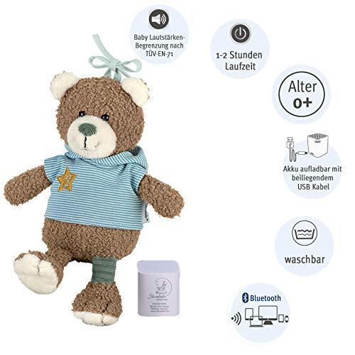 Sterntaler 6352002 Baby-Chilling-Box Bär Ben, Digitale Spieluhr, Inkl. Bluetooth-Lautsprecher und USB-Kabel, Alter: Babys ab der Geburt, 24 x 19 x 9 cm