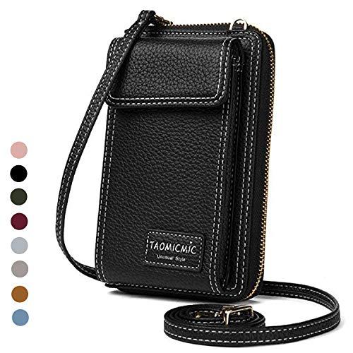 Cyber Sale Monday Deals Women Purse Leather Cellphone Holster Wallet Case Handbag Clutch Phone Pockets Small Crossbody Shoulder Bag Pouch for iPhone 11 Pro 8 Plus Xs Max X Xr 7/6 Plus Samsung