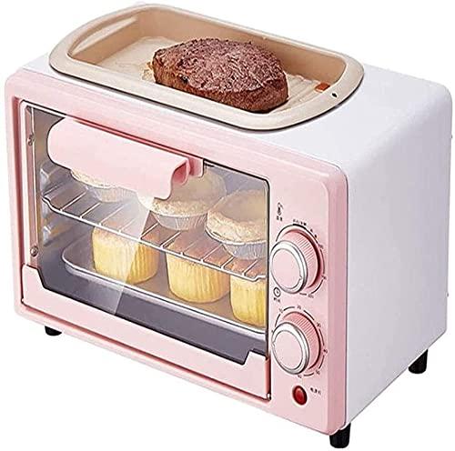 Mini horno, 12L Horno doméstico pequeño para hornear, Capacidad automática de horno eléctrico automático multifuncional 800W Control de temperatura de 60 minutos Pastel secador Freidora de aire