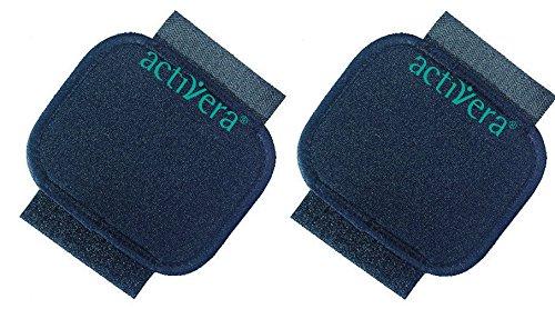 2 Stück activera® Griffpolster für Unteramgehstützen mit Standardgriff schwarz