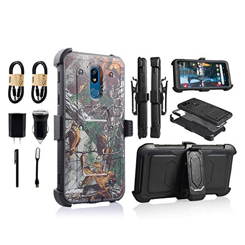6-goodeals for LG Stylo 5 Case,LG Stylo 5 Phone Case with Kickstand,[Built-in Screen Protector] Heavy Duty Full-Body Armor Swivel Belt Clip Protective Case Cover [Accessory Pack] (Camo)