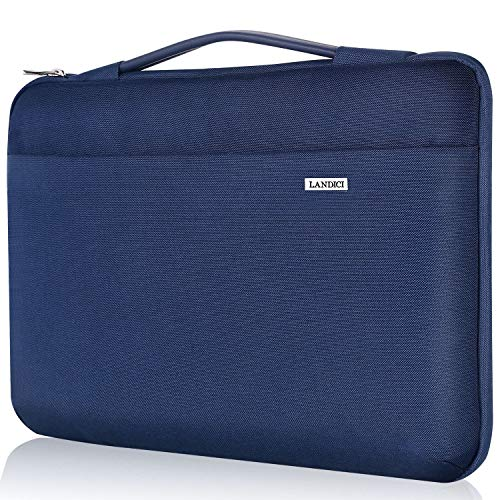 Landici Laptop Case Sleeve 13-13.3 Inch with handle, 360° Protective Computer Bag Compatible with 2020 MacBook Air/MacBook Pro/ 13.5' Surface Book 3, Acer Hp Tablet Chromebook Cover-Blue