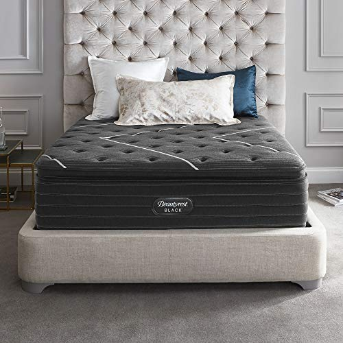 Affordable Beautyrest Black 18 K-Class Firm Pillow Top Mattress and Box Spring, King, White
