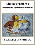 Häkelanleitung – CP177 - Set für Babys: Jacke und Mütze im bayrischen Maschenmuster in 5 Größen