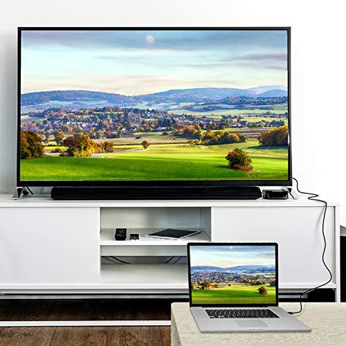 DisplayPort auf HDMI Kabel | Rankie Verbindungskabel DP auf HDMI, 4K Auflösung Kabel, 1,8 m, Schwarz - 6