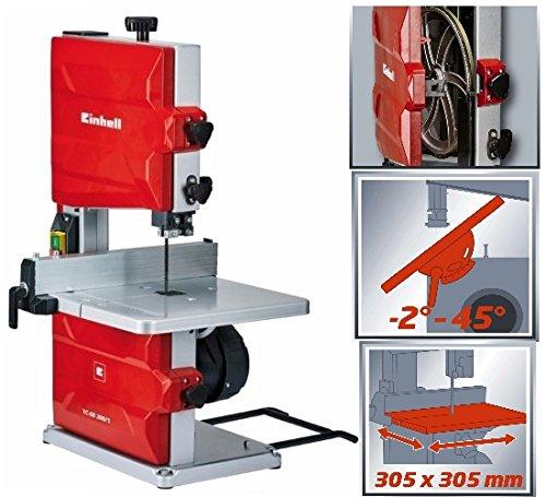 Sega a nastro verticale per legno da banco Einhell 250 watt taglio max 8 cm