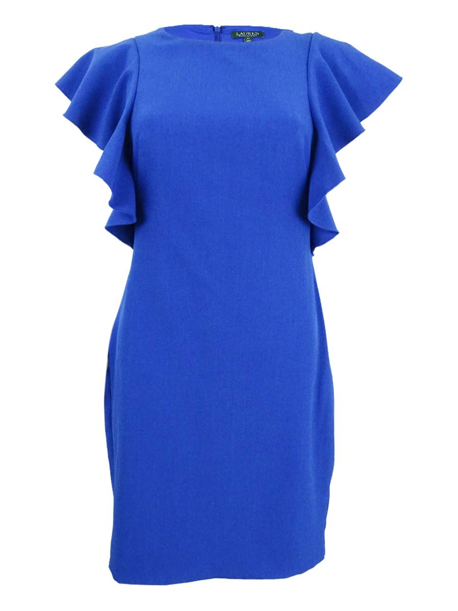 Available at Amazon: Lauren by Ralph Lauren Women's Ruffle-Sleeve Sheath Dress (6 Sapphire)
