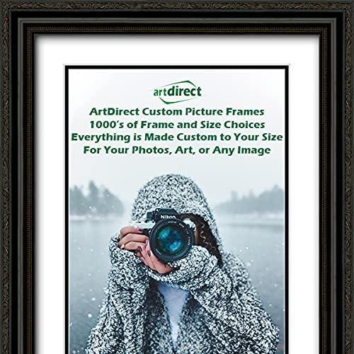 ArtDirect Custom Black Ornate Wood Picture Long-awaited Double Over item handling ☆ with Frame Mat
