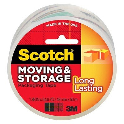 """Scotch Moving & Storage Packaging Tape 1.88"""" x 54yd"""