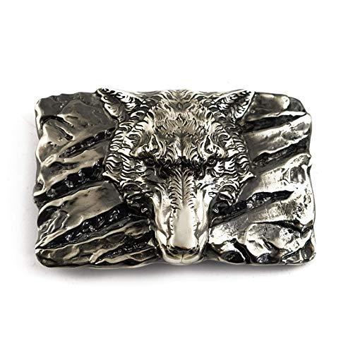 Belt buckle Fenrir Wolf, Handmade Old Norse Scandinavian viking mithology werewolf solid German silver belt buckle