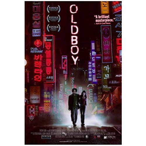 HJZBJZ Oldboy Movie Featured Classic Stills Wandkunst Poster Leinwand Malerei Home Decor Bilder Drucken auf Leinwand -20x28 Zoll No Frame 1 PCS