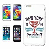 Reifen-Markt Etui pour téléphone Portable Compatible pour iPhone 6+ Plus New York Baseball Championnat DE Baseball Bat Baseball Player Baseball Shirt Baseball ÉQUI