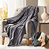 Degrees of Comfort Heated Blanket with Foot Pocket Grey 60x70 | Electric Throw Snuggie for Office or Home | 3 Heat Setting with Auto Shut Off | 6ft Power Cord | Low EMF Radiation | Washable