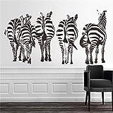 XCJX Zebra OT devoridagi stikerlar yashash xonasi yotoq xonasini bezatish DIY vinil hayvonlar Adesivo De Paredes UY deklaratsiyasida plakatlar qog'oz 210x113 SM.