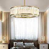 Moderna lámpara de techo de metal con LED de 60 x 60 x 25 cm