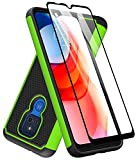 Dahkoiz Case for Moto G Play 2021 Case, Motorola G Play Case with Tempered Glass Screen Protector, Durable Defender Armor Cover Sturdy Protective Phone Cases for Motorola Moto G Play 2021, Green