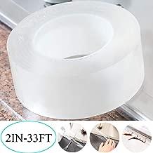 TYLife Caulk Tape,Washable Adhesive Caulk Strip Self Waterproof Repair Tape for Bathtub Bathroom Kitchen Sink Basin Edge Shower Toilet Kitchen and Wall Mildew Sealing(2Inch Width x 33Feet Length)
