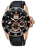 Seiko Reloj Analógico para Hombre de Kinetico con Correa en Cuero SNP056P1