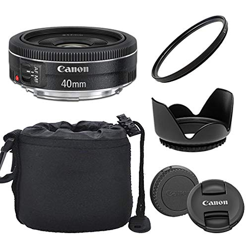 Canon EF 40mm f/2.8 STM Lens with Optimal Accessory Bundle