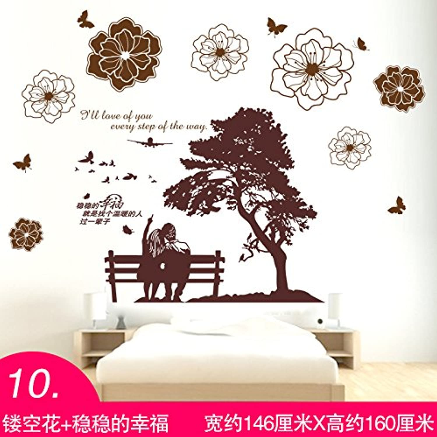 Znzbzt Wall Paper SelfAdhesive Wall Stickers Room Wall Decoration Wall Decals Wallpaper Wall Murals Exposed Flower