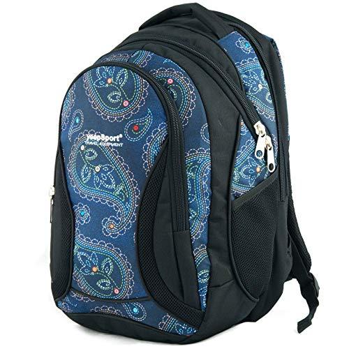 YeepSport Schul Rucksack Ranzen Mädchen Junge Sport Tasche 40 Liter groß leicht stabil 30085 Mandala Blue