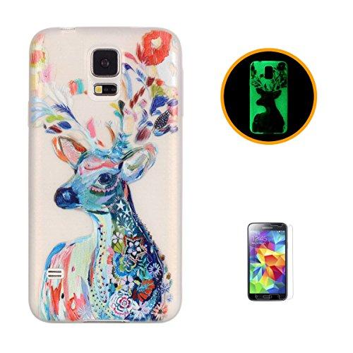 Compatible Con:Samsung Galaxy S5 Elegantemente elegante TPU caso, suave, ligero, antideslizante, puede proteger su teléfono, hacer que su teléfono más seguro Características: la cáscara de la luz durante algún tiempo, a continuación, la cáscara en la...