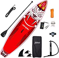 FAYEAN Inflatable Stand Up Paddle Board 10.5' x 33''x 6'' Thick Round Board Includes Pump, Paddle, Backpack, Coil Leash...