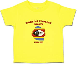 Custom Baby & Toddler T-Shirt World's Coolest Swazi Uncle Boy Girl Clothes
