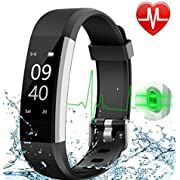 AISIRER Fitness Tracker Watch Waterproof Activity Tracker with Heart Rate Sleep Monitor, Pedometer Watch Connected GPS for Kids Women Men, Smart Wristband with Call Message Sedentary Reminder