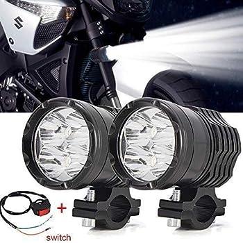 Aione Motorrad 30 Watt LED Fahrlicht 3 Modi Nebelscheinwerfer Flutlicht Scheinwerfer Combo Fernlicht IP67 Wasserdichtes Arbeitslicht f/ür Gel/ändewagen UTV SUV